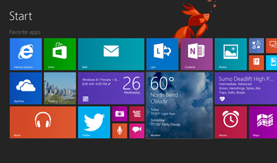 Windows 8.1 Home screen